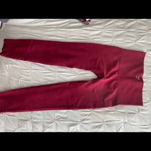 Gymshark burgundy workout pants